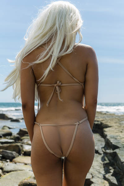 Mesh criss-cross micro one piece