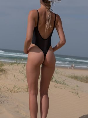 Mesh Bay Watch THONG Tank
